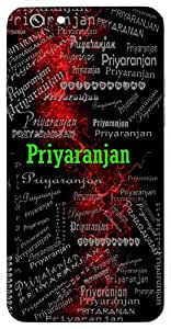 Priyaranjan (Beloved) Name & Sign Printed All over customize & Personalized!! Protective back cover for your Smart Phone : Samsung Galaxy On7 2016