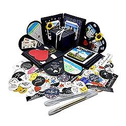 Valentinstag | Fotobox zum Selbstgestalten Explosionsbox Geburtstag (Stifte, Sticker) Kreative Überraschung Box Geschenkebox zum Gestalten Foto Box zum Aufklappen  Fotobox Geschenkbox DIY Pop Up Box