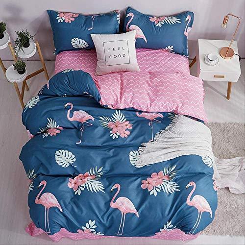 SJRYXCD Bettwäsche Sets Tröster Bettzüge Geometrische Muster Bett Linen Cotton/Polyester Duvet Cover Bed Sheet Pillowcases Cover Set könig Farbe 20 (König Cotton Bed Sheet Sets)