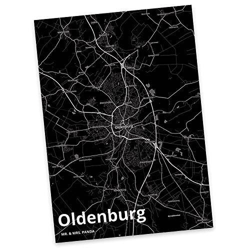 Mr. & Mrs. Panda Postkarte Stadt Oldenburg Stadt Black - Stadt Dorf Karte Landkarte Map Stadtplan Postkarte, Postkarten, Einladungskarte, Geschenkkarte, Brief, Spruch des Tages, Kärtchen, Geschenk, Karte, Papier, Einladung, Fan, Fanartikel, Souvenir, Andenken, Fanclub, Stadt, Mitbringsel