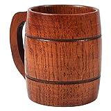 Boccale da birra in legno, Boccale da birra vintage con la maniglia Wood per Oktoberfest/Beerfest (1)