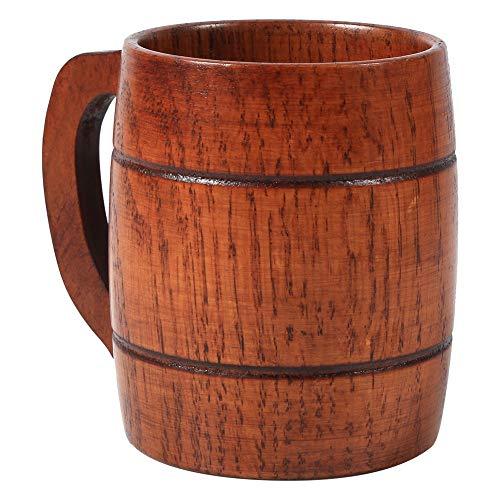 Taza de cerveza de madera, taza de café de la cerveza del vintage con la taza de madera de Henkel para Oktoberfest/Beerfest