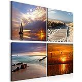 Meer Sand Sonnenuntergang NEU Alter Wellenbrecher am Strand VLIES FOTOTAPETE