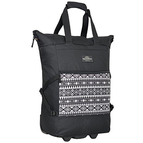 Einkaufstrolley Keanu WHEEL Trolley Shopping Damentasche Einkaufsroller Korb Shopper - Trinity - FABRAUSWAHL (Black Aztec)