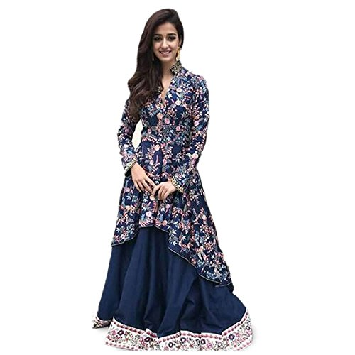 Aarna Fashion womens Silk Multi-Coloured Salwar Suit_Medium_Rimzzim