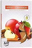 6 Stück Teelichter: APFEL-ZIMT / APPLE-CINNAMON, Brennzeit ca. 4 Stunden, Größe ca. 3,9x1,2cm
