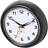 InterDesign Forma Suction Clock For Bathroom or Shower, Black