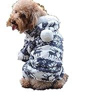 Doggy Apparel Vêtements, Malloom 1PC Nouveau chien de chien élégant Warm vêtements Puppy Jumpsuit Hoodie Manteau (L, Gris)