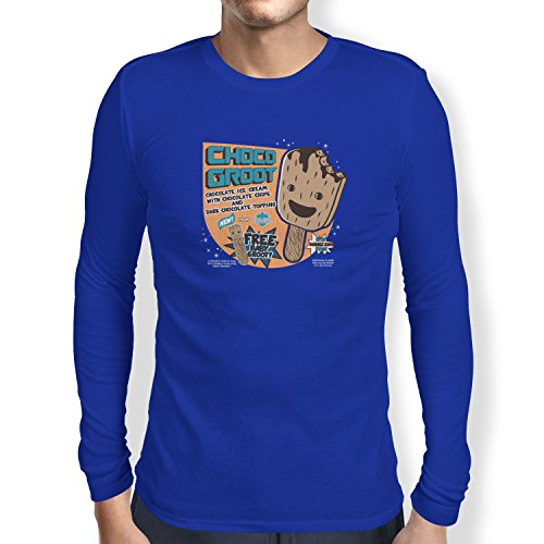 TEXLAB - Choco Groot Ice Cream - Herren Langarm T-Shirt Marine