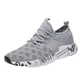 Vovotrade Liebhaber Schuhe Unisex Damen Herren Laufschuhe Sportschuhe Gym Turnschuhe Freizeitschuhe Atmungsaktiv Running Sneaker Low Top Schnürschuhea Mesh Outdoor Shoes (EU:39, Grau Mesh)