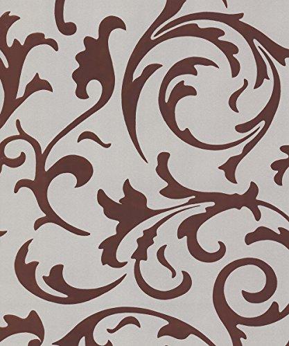 Metallic Scroll (BN International Tapete Brocante aus dem 42324–Wand einkleistern Scroll Metallic Rot)