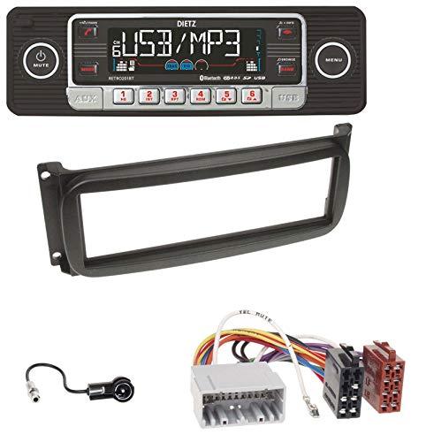 caraudio24 Dietz BOA Retro_201_BT Bluetooth SD CD MP3 USB Autoradio für Chrysler Voyager Neon PT Cruiser 300M Jeep Cherokee