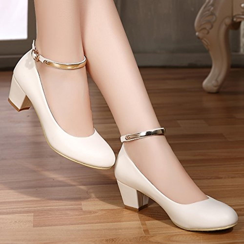 GAOLIM Herbst Schuhe mit Damen-Schuhe Schuhe Damen Schwarz Schlitz Befestigungen-Schuhe für Frauen Schwarz
