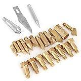 Wood Burning Pen punte, accessori 23PZ Woodburning stencil saldatore Pirografo lavoro carving Tool kit