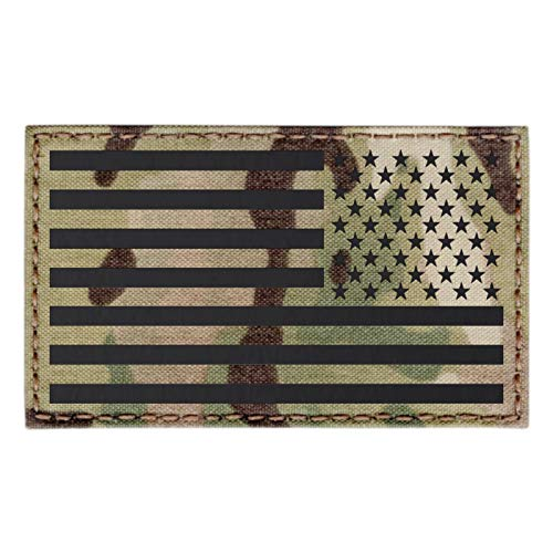 IR Big 3x5 Multicam USA American Reversed Flag Right Shoulder IFF Tactical Morale Patch - Big 3x5 Flag
