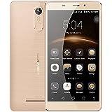 LEAGOO M8 3G MTK6580A 1.3Ghz Quad Core Android 6.0 Teléfono Móvil 5.7inch 2GB RAM + 16GB ROM 3500mAh 1280 * 720 HD 13.0MP ID de Huella Dactilar Smartphone (Oro)