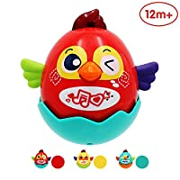 ANIKI TOYS Talking Singing Dancing Tumbler Bird - Recording Function, Sound Light Effect, USB Charging 1 year old and above Educational Toy