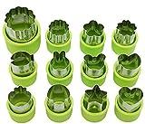 12 Stück Gemüse Obst Cutter Formen Cookie und Mini Torte Briefmarken Form Cutter Dekorative Lebensmittel Backen Werkzeuge