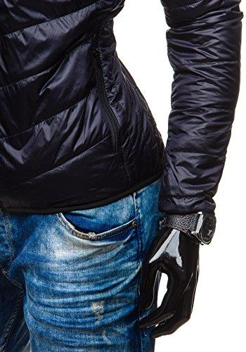 BOLF – Veste matelassé à capuche – Fermeture éclair – BRUNO LEONI 138 - Homme Noir