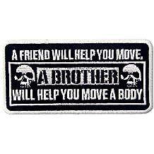 A Un Amigo Le Ayudar¨¢ A Mover Un Hermano Te Ayudar¨¢ A Mover Un Cuerpo Emblema Bordado Hierro En Coser El Parche