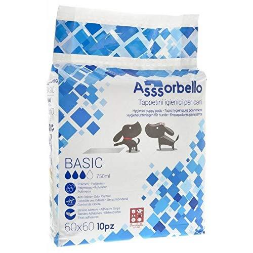 Ferribiella Assorbello BasicTappetini igiene per Cane, 100 Pezzi, 60 x 60 cm, Multicolore