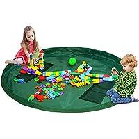 Preisvergleich für Kinderspielmatte und Spielzeug-Aufbewahrungstasche–152,4cm Kinderspielzeug-Tasche Spielzeug-Tasche für schnelle Organisation.Ideal zur Aufbewahrung von mittelgroßem und großem Spielzeug, tragbar.