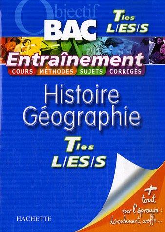 Histoire Géographie Tes L, ES, S