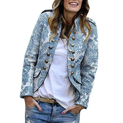 Damen Sakko Cardigan Elegant Blazer Leicht DüNn LäNgere Leichte Jacke Fließt Wunderbar Und Ist SchöN Leicht Locker Fallendes zu Jeans T-Shirt Aber Auch zur Edlen Anzughose Pumps (Himmelblau, M) -
