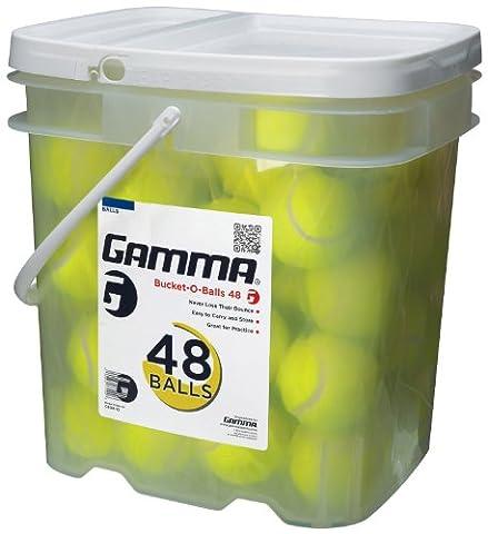 GAMMA Pressureless Tennis Ball Bucket| Case w/48 Practice Balls| Sturdy/Reusable/Portable