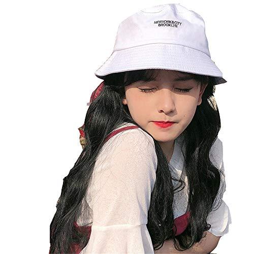 ZJWP Fischerhut, weiblicher Hut, Frühling, Sommer, wild, niedlich, Sonnenhut, Sonnenschutz, Mode, Beckenkappe
