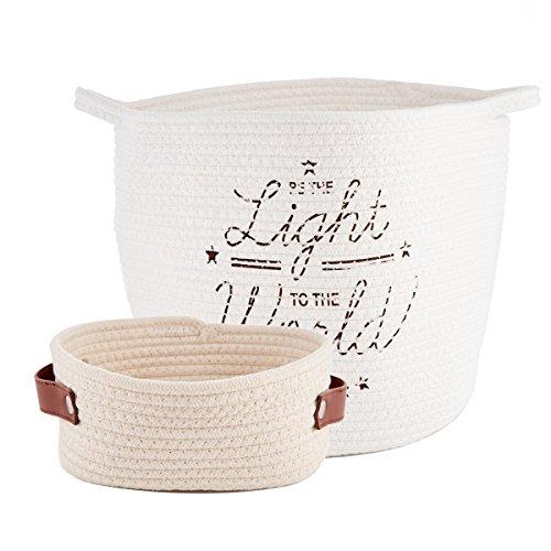 QILICZ 2stk Multifunktionale Faltbare Wäschekörbe Baumwolle Leinen Wäschebox Wäschesammler Kinder Spielzeug Aufbewahrungskorb Aufbewahrungsbox Stoff Haushalt Organizer Korb Wasserdicht Storage Basket (Faltbare Stoff Baskets)