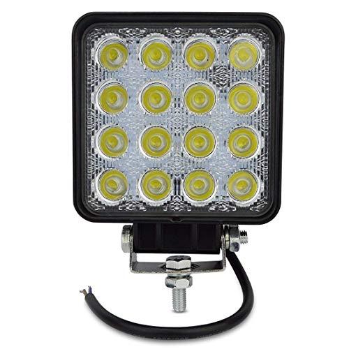 2 x 48 W carré spot lED phares de travail 16 LED de profondeur voiture Bateau