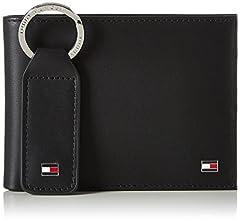Idea Regalo - Tommy Hilfiger Eton CC And Coin Pckt Keyfob Box, Portafoglio Uomo, Nero (Black), 1x1x1 Centimeters (W x H x L)