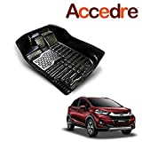 #5: Accedre Leatherette Texture Perfect Fit Car 5D Floor Mats Set of 3 Black-Honda WRV