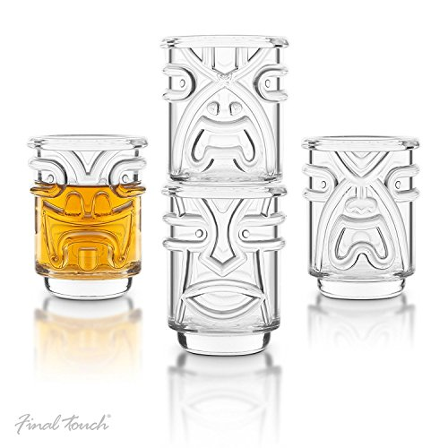 Final-Touch-Tiki-apilables-vasos-de-chupito-transparente-60-ml-pack-de-4-diseo-de-hawaiano--tk5301