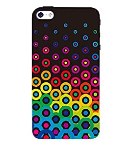 Button Pattern 3D Hard Polycarbonate Designer Back Case Cover for Apple iPhone 4S