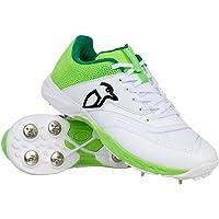 Kookaburra - KC 2.0 Cricket Spikes, KC 2.0 - Picchetti da Cricket SS20, Misura Jnr 6, Colore: Lime Unisex - Adulto