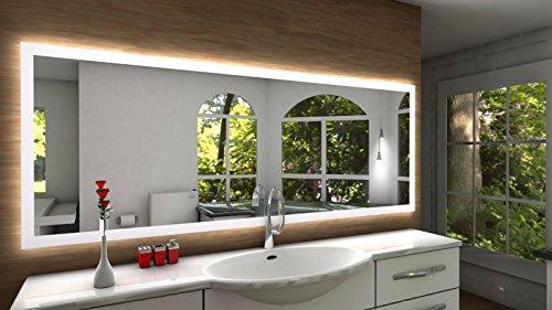 Badspiegel Designo SETE mit A++ LED Beleuchtung - (B) 100 cm x (H) 70 cm - Made in Germany