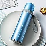 WENSISTAR Sport Fitness Fahrrad Wasserflasche,Vakuum-Isolationstopf aus Edelstahl, Outdoor-Sportflasche, tragbarer Trinkbecher @ Blue,Auslaufsichere Flasche Isolierflasche