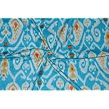 Indio tradicional Hecho a mano 100% tela de algodón puro Flor de hoja Impreso 44