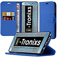OnePlus 3T Case, ( Blue 001 ) [Book - Wallet Series] Double Layer Shock Absorbing Premium Soft PU Color matching Leather Wallet Cover Flip Cases ForOnePlus 3T + FREE SCREEN PROTECTOR FILM By i-TronixsŽ