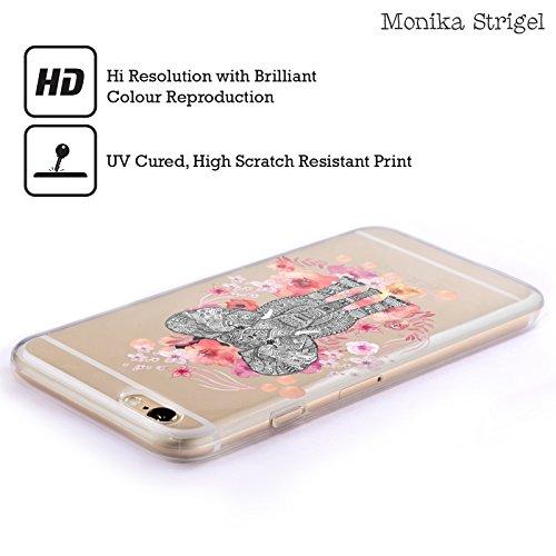 Ufficiale Monika Strigel Giraffa Animali E Fiori 2 Cover Morbida In Gel Per Apple iPhone 6 Plus / 6s Plus Elefante Azteco