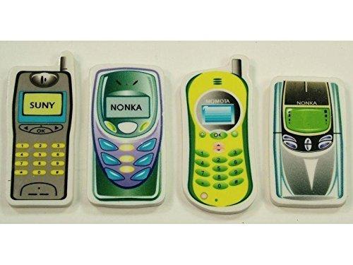 RABOBE Radiergummi Handy bedruckt, 6cm, 4 Designs, Größe ca.,6x3x0,5 cm, Preis pro Radierer!