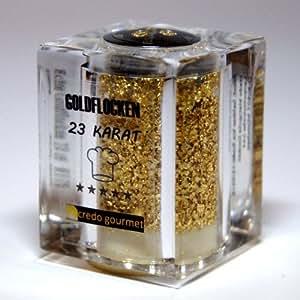 Goldstreuer Deluxe 23 Karat essbares Blattgold 100 mg Goldflocken