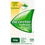 Nicorette 6 mg Fruitfusion Gum - Pack of 105