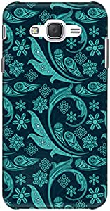 The Racoon Grip printed designer hard back mobile phone case cover for Samsung Galaxy J7. (Turquoise)