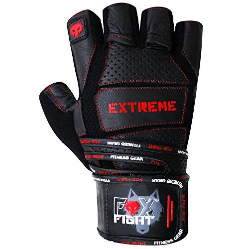 EXTREME Fitness Kraftsport Trainings Handschuhe Kraftsporthandschuhe Bodybuilding FOX-FIGHT - 2