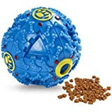 Foodie Puppies Dog Treat Dispensing Squeaky Ball (Blue)