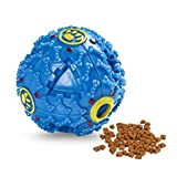 #9: Foodie Puppies Dog Treat Dispensing Toy & Squeaky Dispenser Ball for Dogs (Blue)