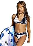 Kinder Mädchen-Bikini Strandbekleidung Badebekleidung Badeanzug Badeanzug dunkelblau Marineblau, dunkelblau, 164 cm